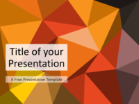 Free Triangle Mosaic Brown Orange Title Slide Keynote