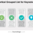 Free Vertical Grouped List Keynote